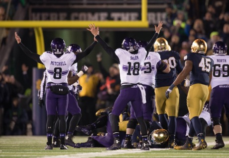 USP NCAA FOOTBALL: NORTHWESTERN AT NOTRE DAME S FBC USA IN